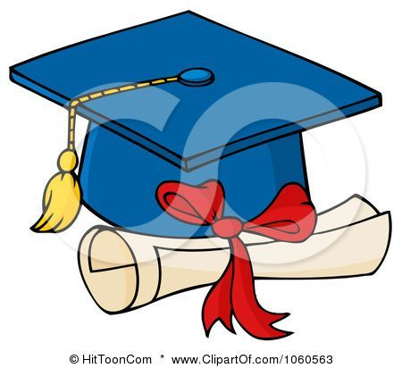 royalty free vector clip art illustration of a blue graduation cap rh pinterest com