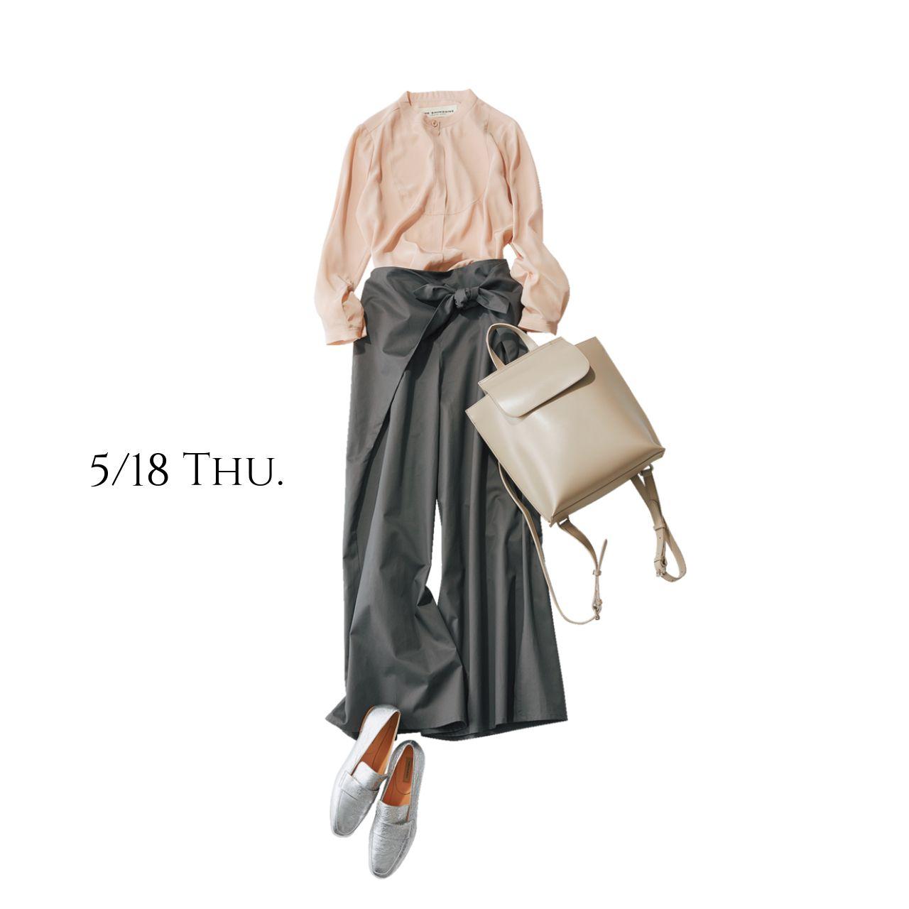 春の健康診断 スタンドカラーのブラウスで背筋も気持ちもシャキッとmarisol Online 女っぷり上々 40代をもっとキレイに ミニマリストのファッション ファッション モテ ファッション