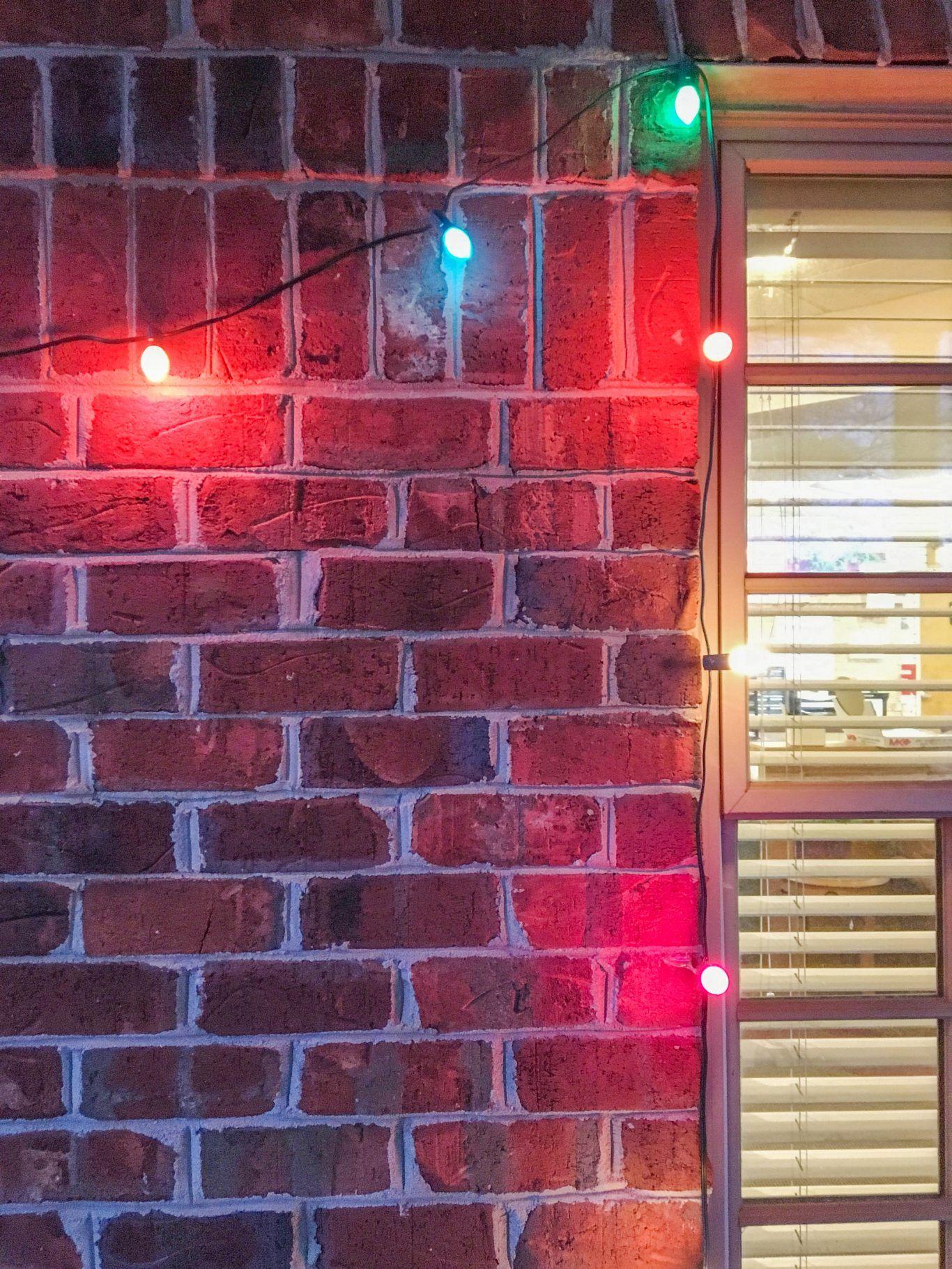 How To Hang Christmas Lights On Brick Christmas