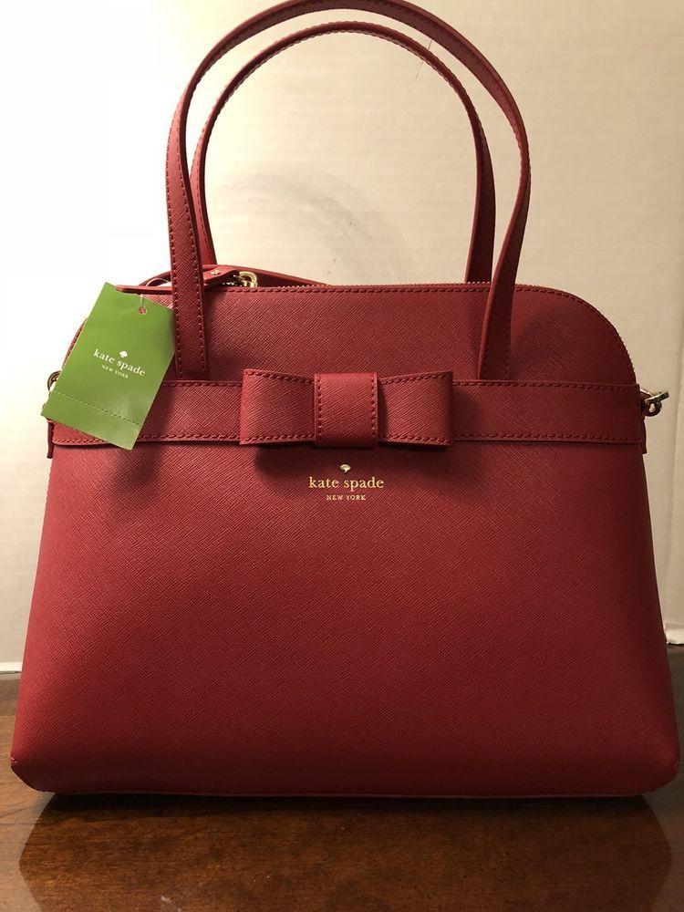 Kate Spade Kirk Park Julita Saffiano Leather Bag Satchel Pillbox RED NWT   358  purses  fashion 16383901513a2