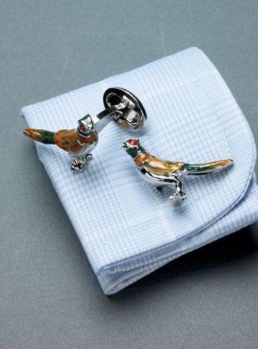 6e5c11ca48e0 Ben Silver pheasant cuff links- John needs these Vintage Cufflinks, Men's  Cufflinks, Preppy
