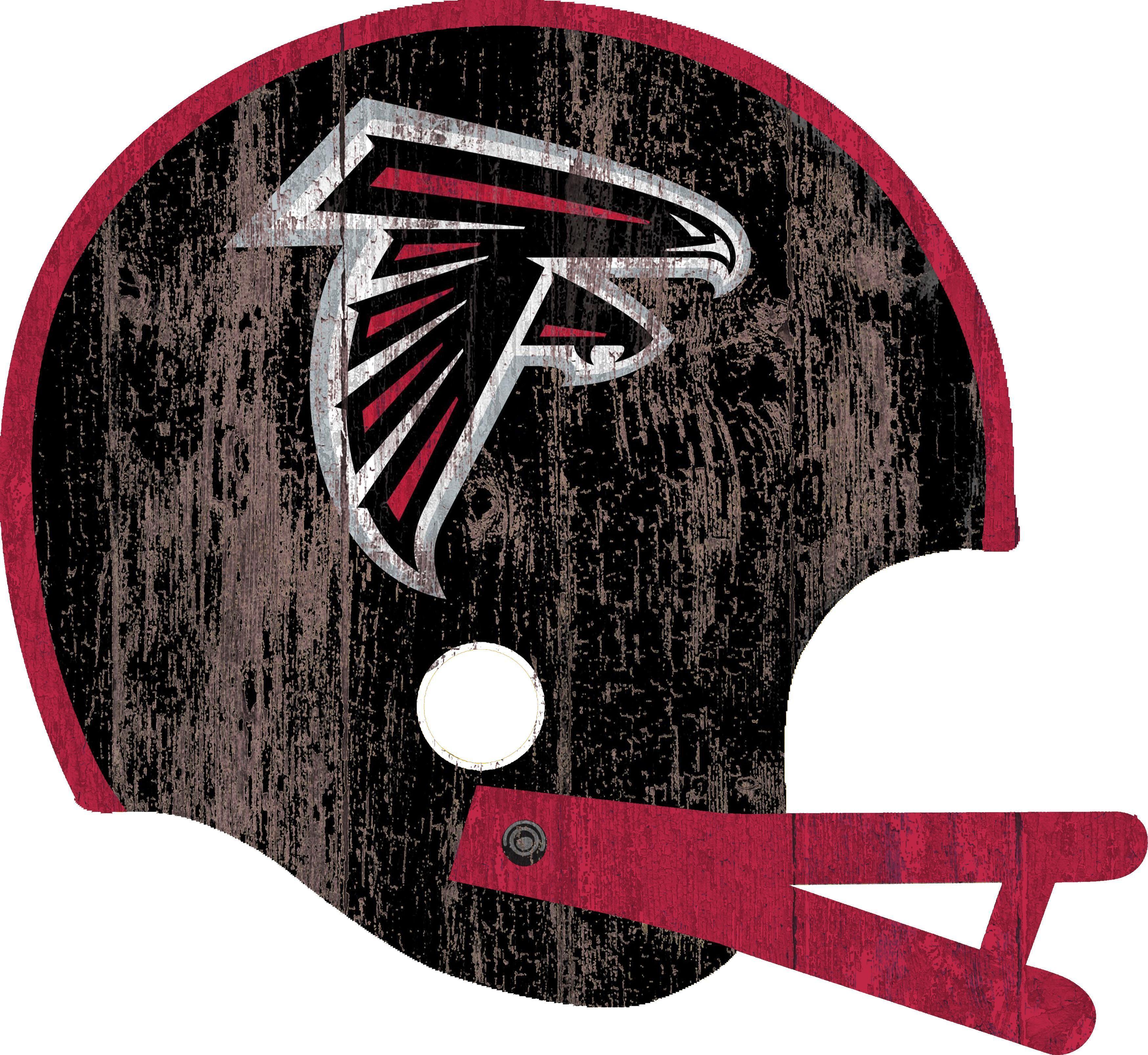 Atlanta Falcons Distressed Helmet Cutout 24 Wall Art Atlanta Falcons Fan Creations Falcons