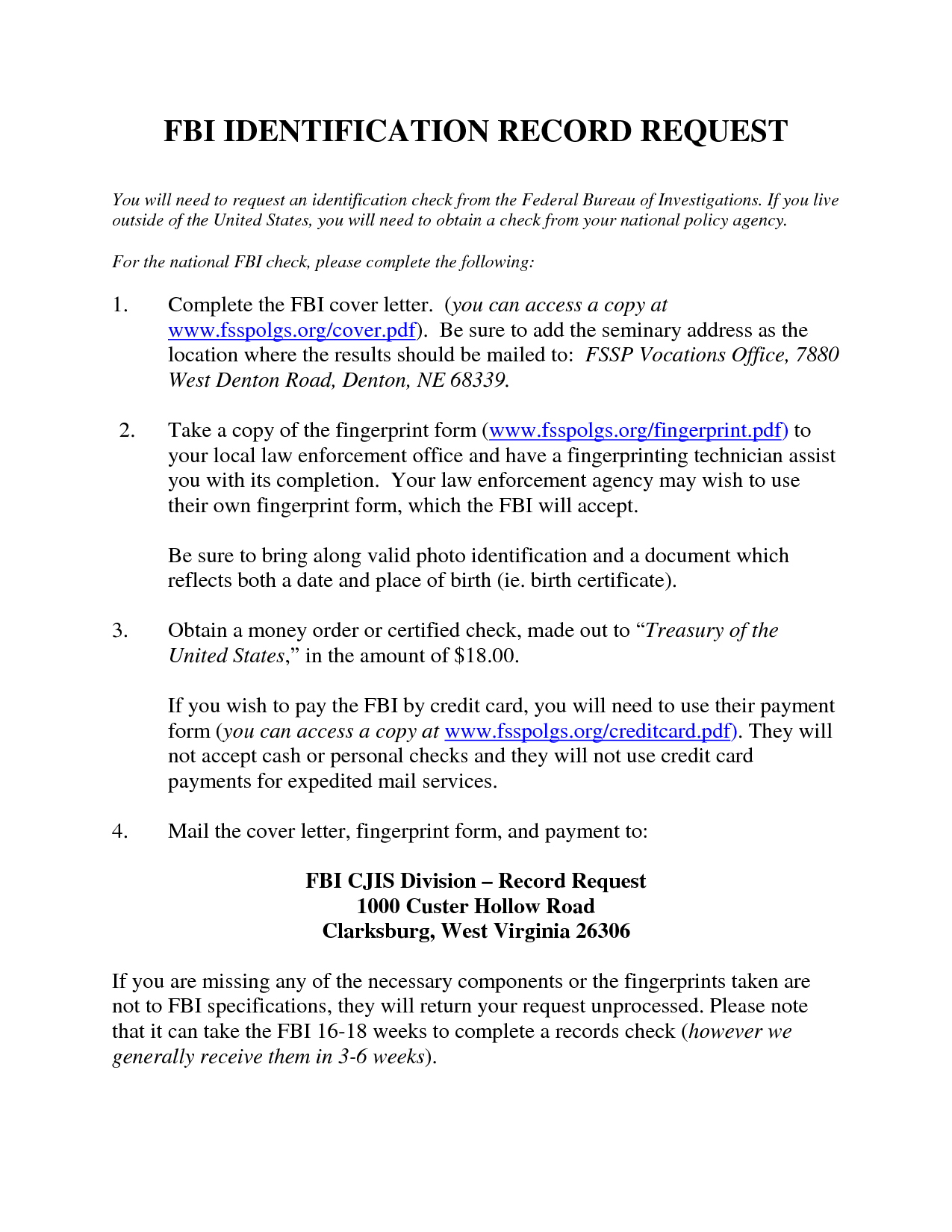 Police Record Request LetterVolunteer Police Clearance