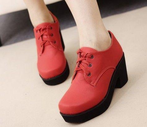 Lovely fashion platform shoes stylish wedges XD-LJ818-1 red