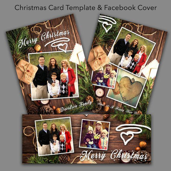 photoshop christmas card template  u0026 facebook timeline