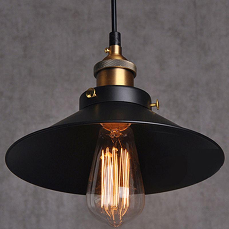 pas cher fer peint pendentif clairage vintage support de lampe ampoules incandescence. Black Bedroom Furniture Sets. Home Design Ideas