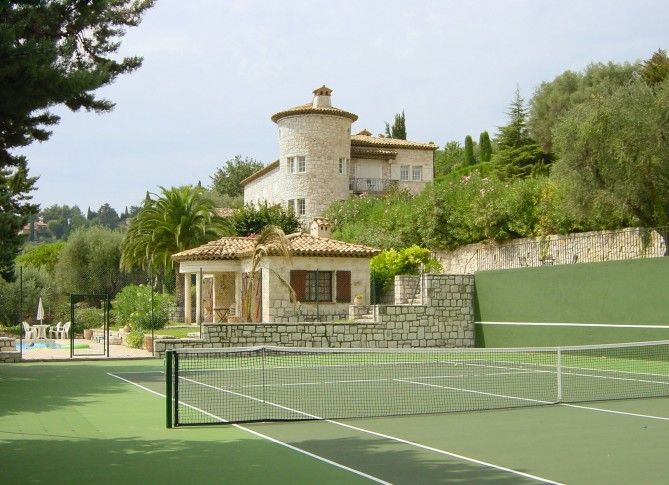 Villa For Rent With Private Tennis Court Tennis Court Backyard Private Tennis Court Tennis Court