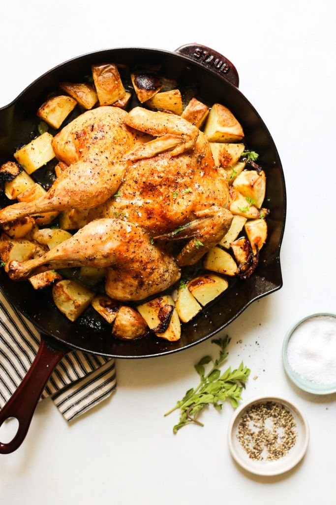 Photo of Whole Roasted Greek Chicken and Potatoes