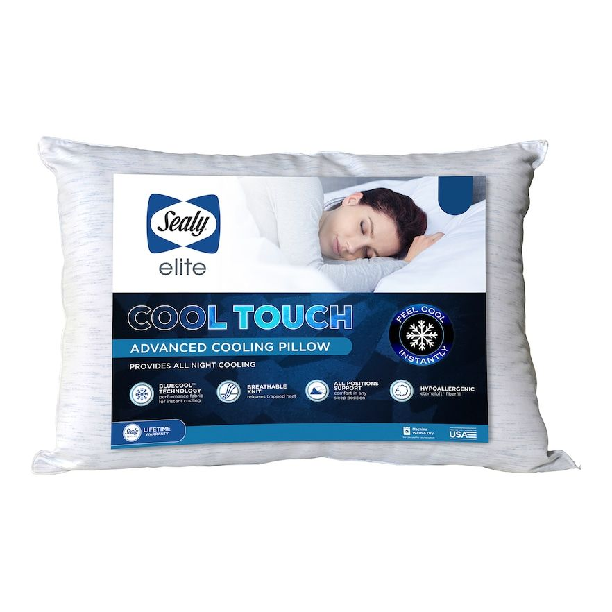 Sealy Elite Cool Touch Advanced Cooling Pillow White Standard In