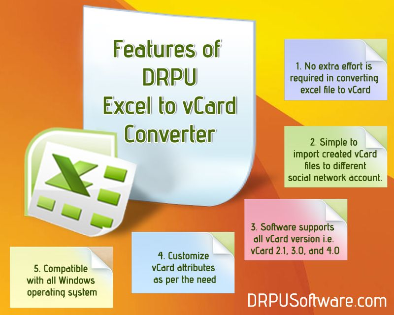 Excel to vCard converter software provide facility to