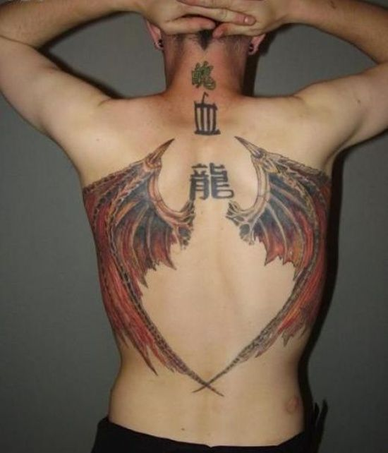 fbbcdcf2f197f Wings Tattoo Design: Devil Wings Tattoo Design For Men On Back ~ Cvcaz  Tattoo Art Ideas ~ Tattoo Design Inspiration