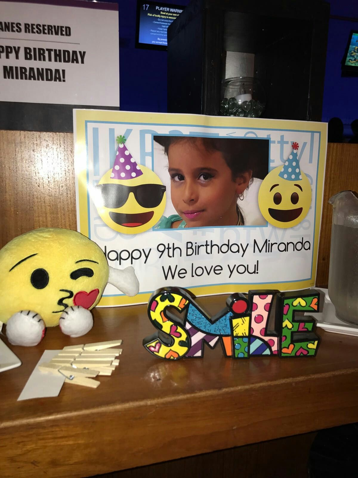 Emoji on her birthday with images 9th birthday