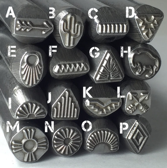 Native American Large Steel Stamps Native Tribe Designs