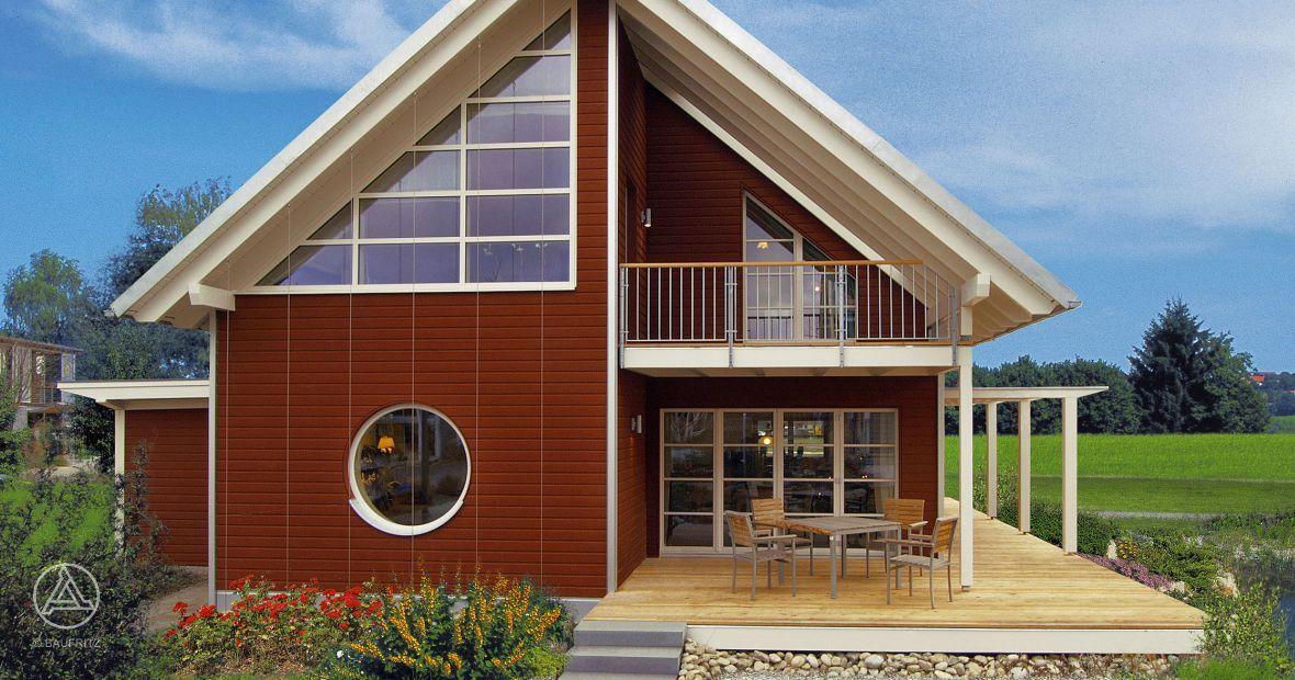Schwedenhaus modern  Baufritz Schwedenhaus Edition Rot - Markante Architekturdetails ...