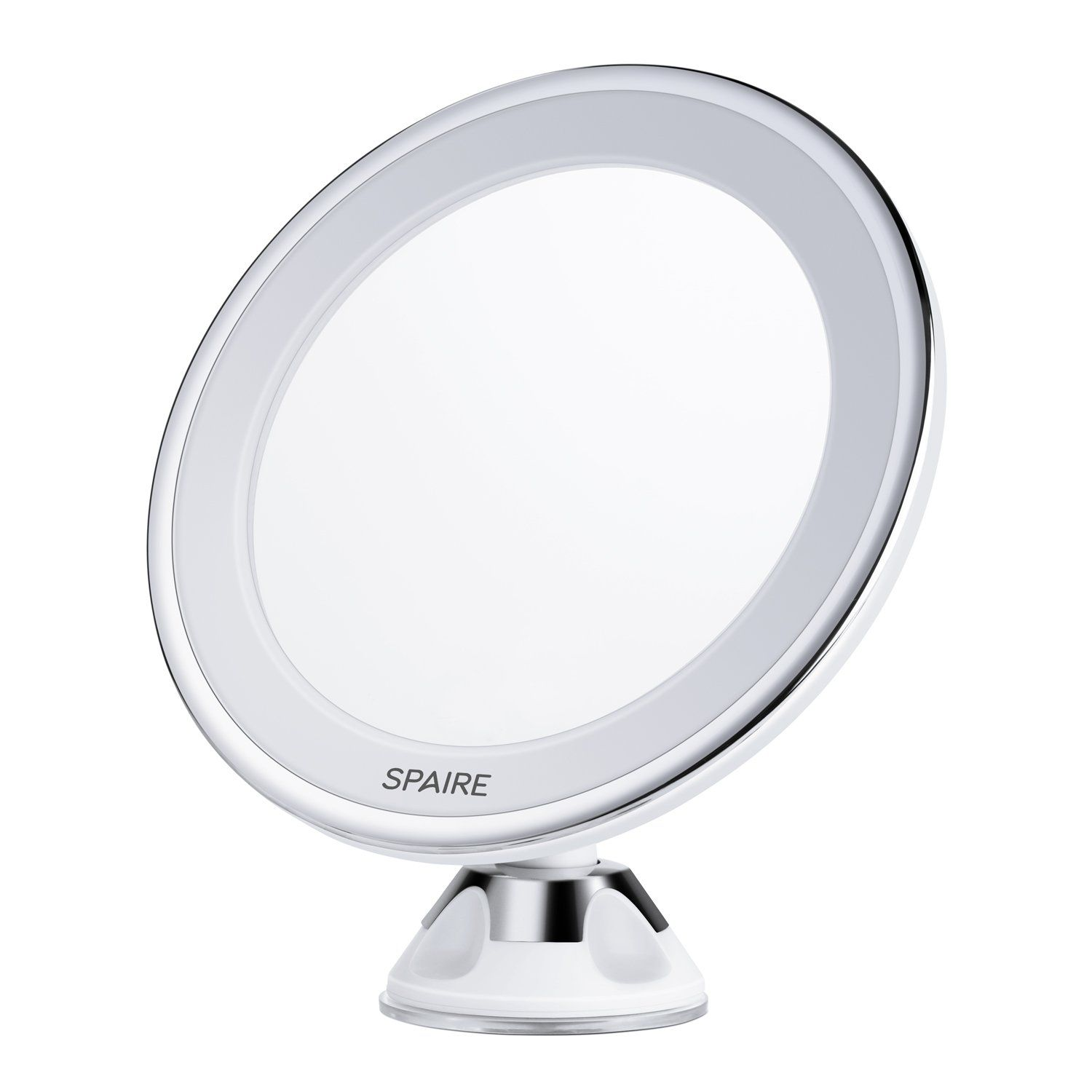 Spaire Lighted Vanity Makeup Mirror 7X Magnifying LED Bathroom ...