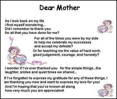 Hy Mother S Day Poems For Daughter Mothers
