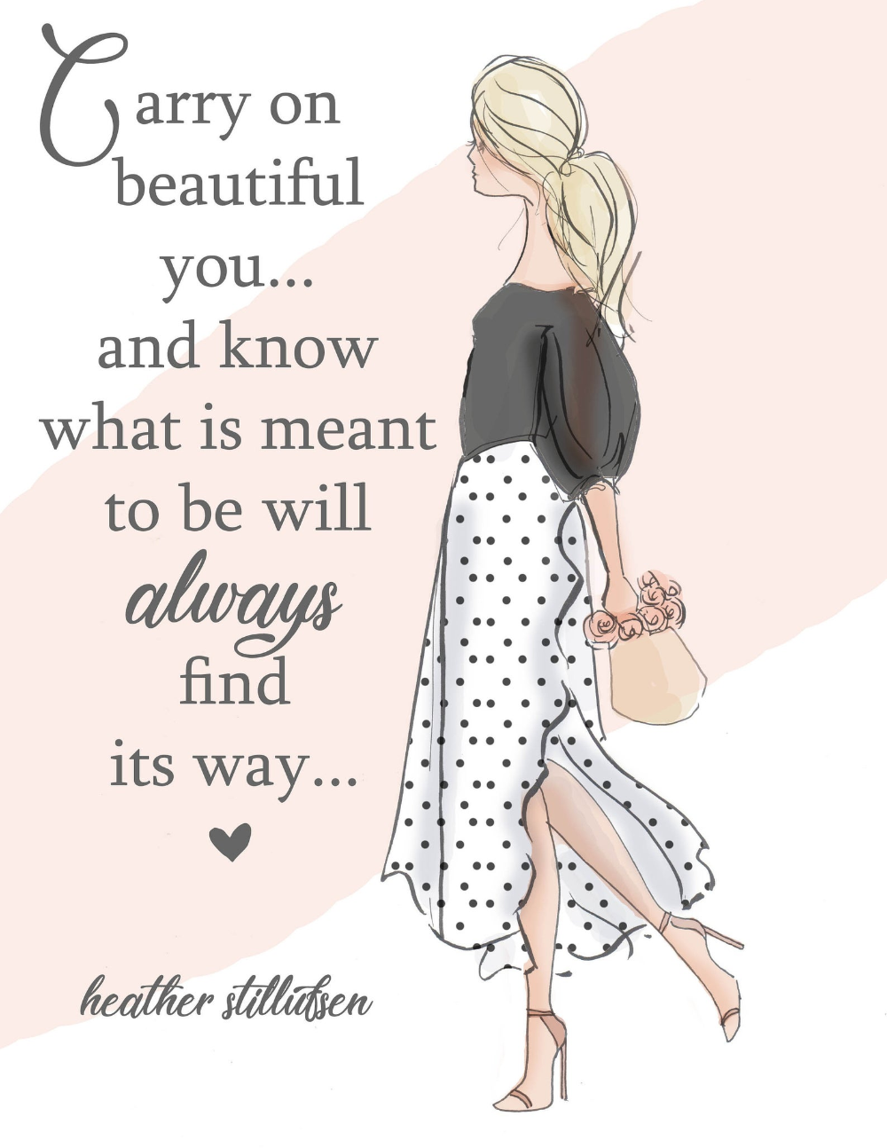 Carry On Beautiful You Wall Art For Women Cards For Women Wall Art Print Motivational Art Print Wall Art Print Heather Stillufsen Quotes Heather Stillufsen Motivational Art Prints