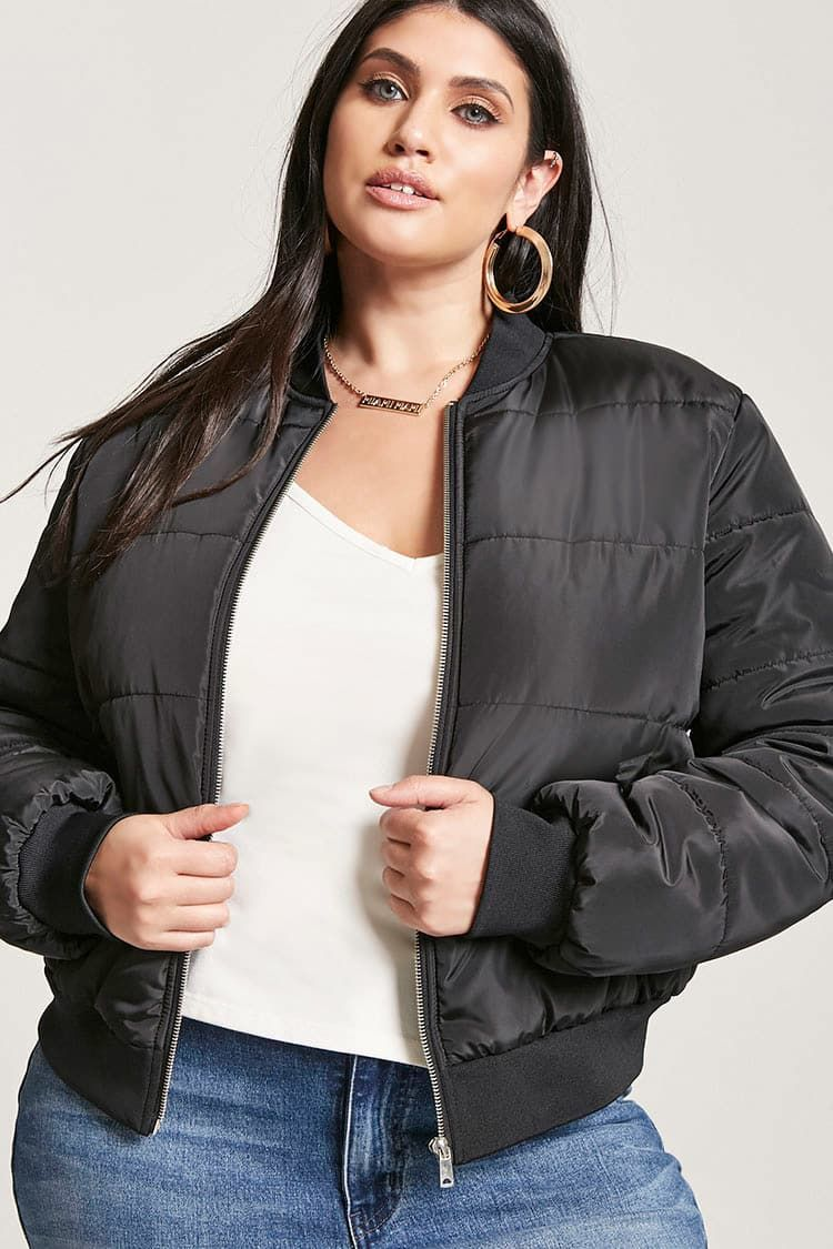 Product Name Plus Size Puffer Bomber Jacket Category Plus Size Main Price 27 Womens Winter Fashion Outfits Womens Fashion Casual Chic Womens Fashion Modest [ 1125 x 750 Pixel ]