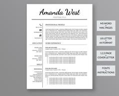 What Does A Professional Resume Look Like Professional Resume Template Elizabeth Moore  Professional Resume .