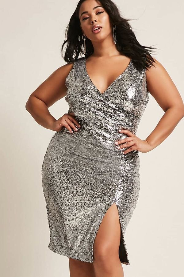 97bffc93 FOREVER 21+ Plus Size Metallic Sequin Dress | All different types of ...