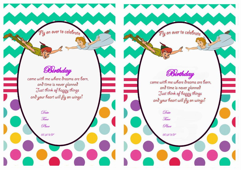 Peter Pan Birthday Invitations – Birthday Printable | fairies ...