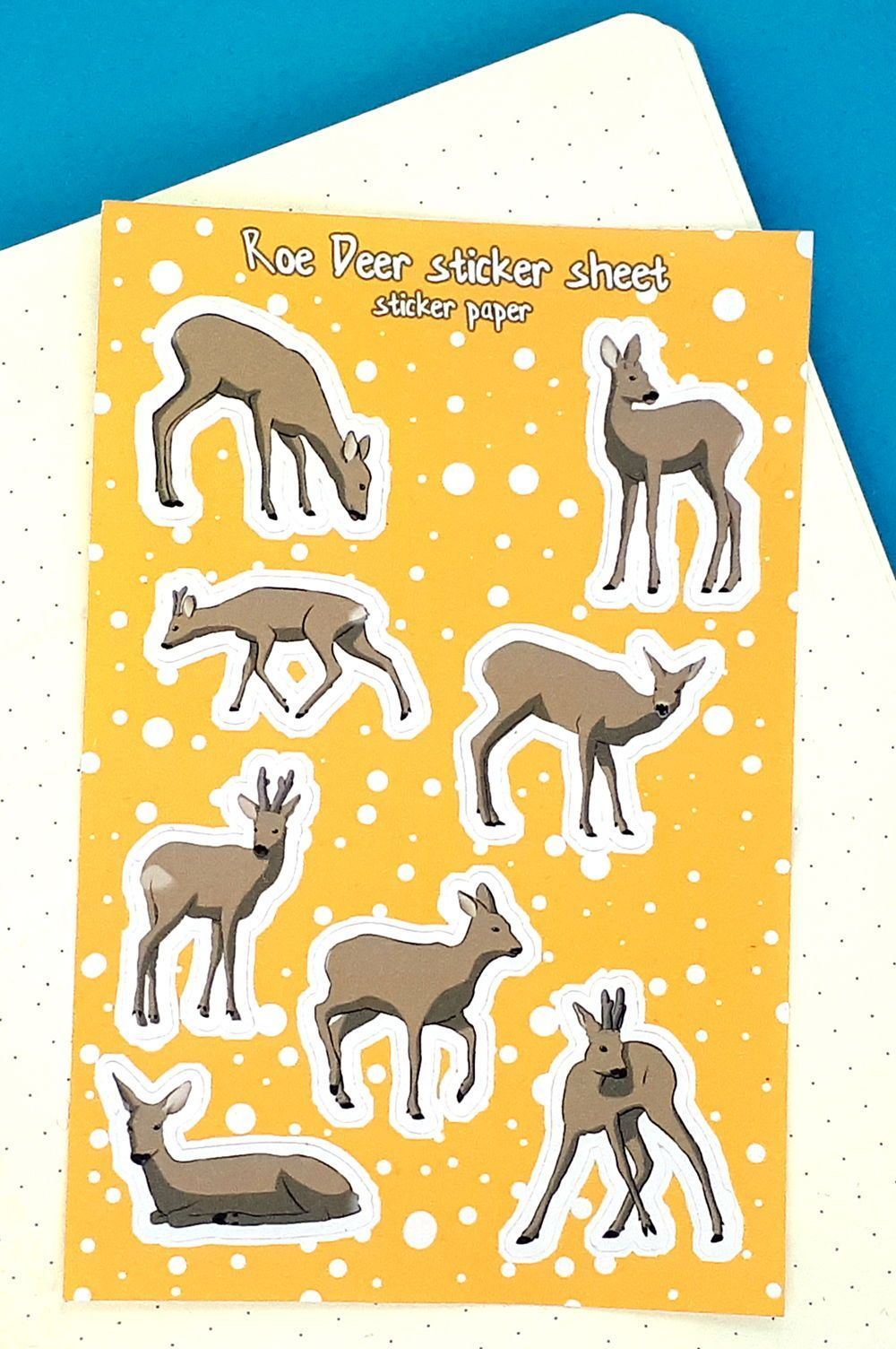 8 charming roe deer vinyl stickers for your bullet journal | Etsy