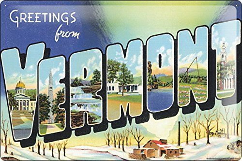 Vintage postcard reproduction | The Green Mountain State