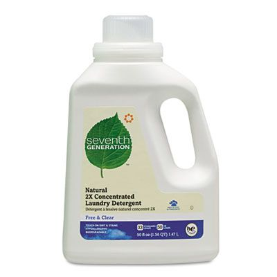 Seventh Generation Natural 2x Concentrated Laundry Liquid 50 Oz
