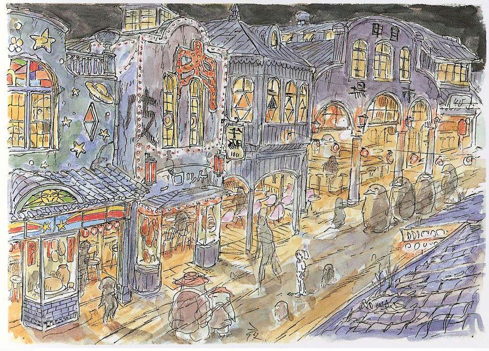 Megsy V Illustration: Spirited Away Concept Art Research ...