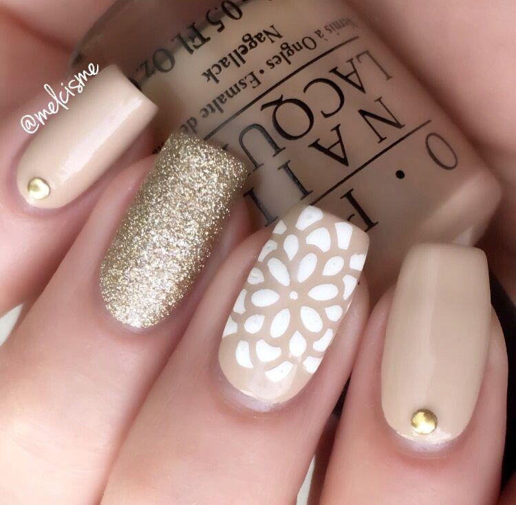 neutral nail design | autumn gel nails | Pinterest | Design, Neutral ...