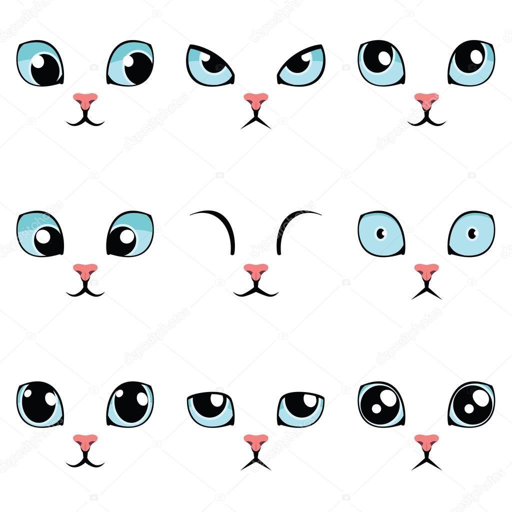Resultado De Imagen Para Caras De Gatos Animados Mi Gato