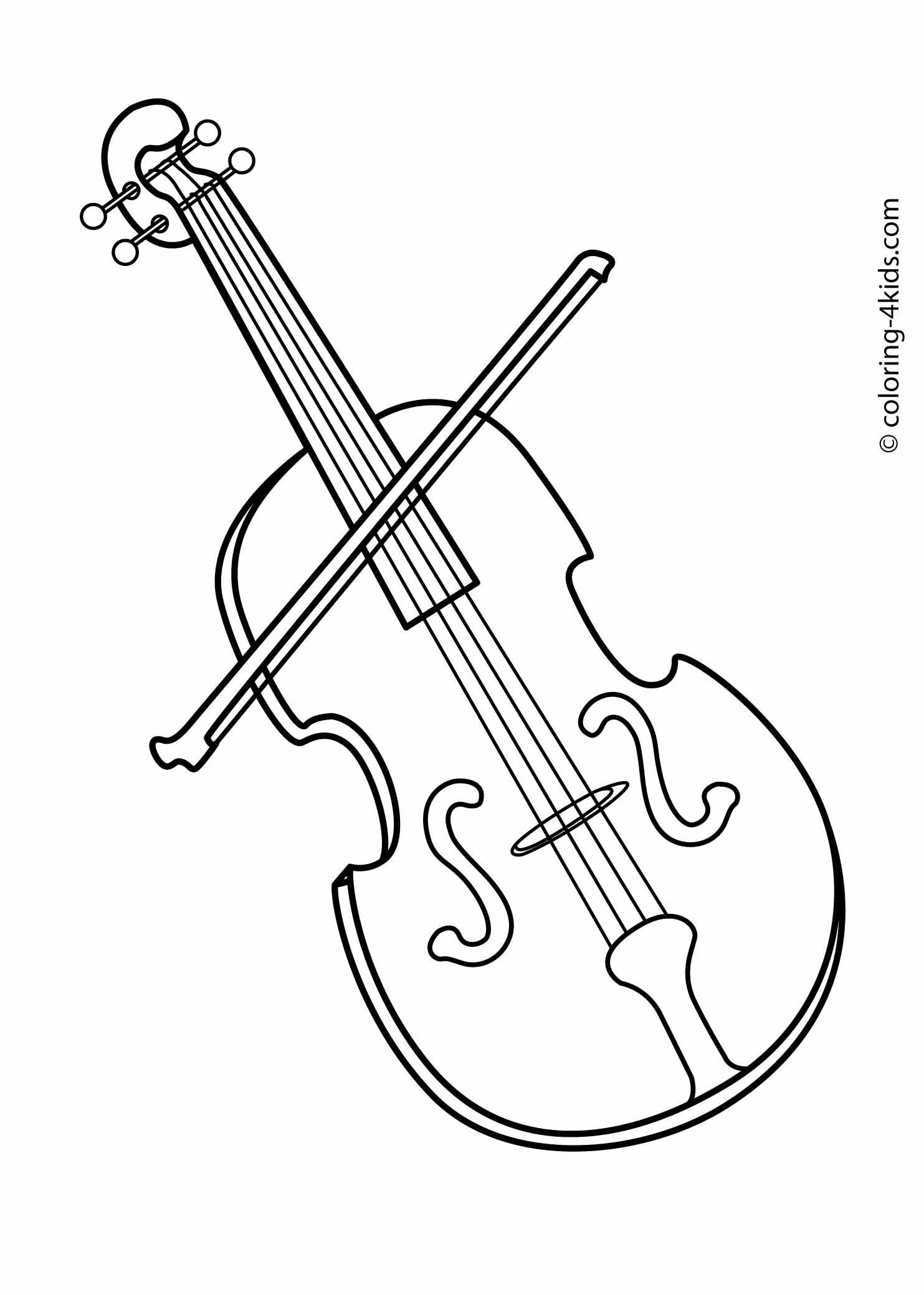Violin musical instruments coloring pages | Coloring pages | Pinterest