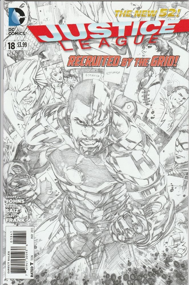 from $19.99 - Justice League #18 1:100 Ivan Reis Black / White ...