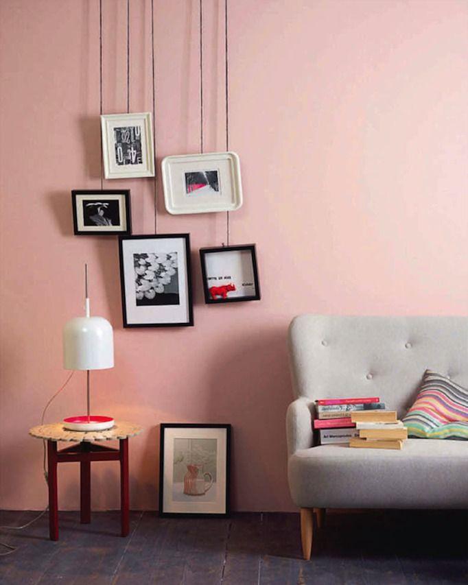Comment afficher ses photos | Pinterest | Grey couches, Pink walls ...