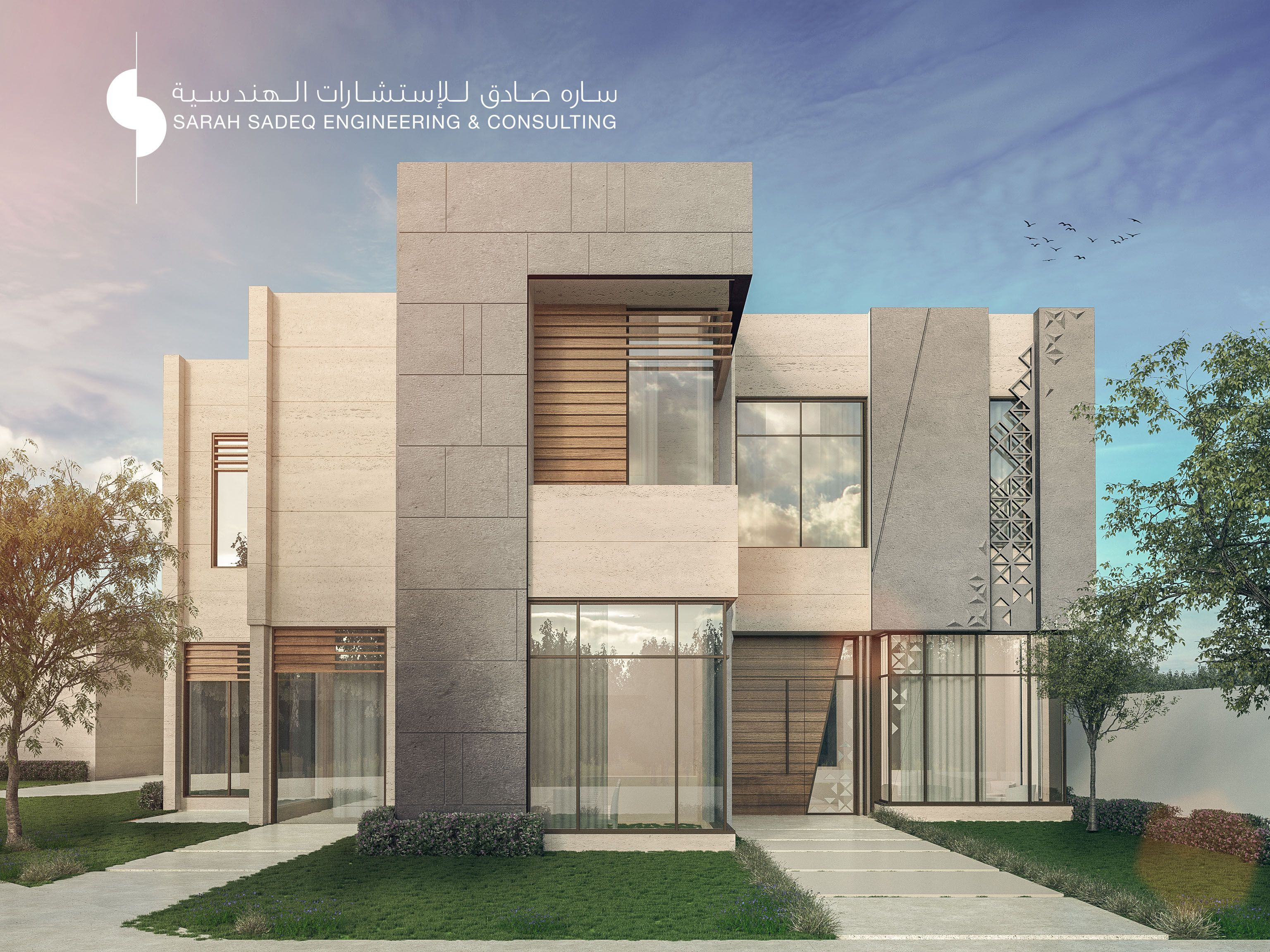 2500 m private villa abudahbi uae by sarah sadeq for Architecture villa design