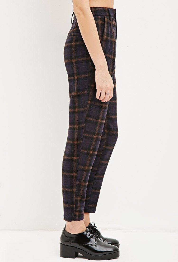 ac1916921 Tartan Plaid Trousers - Trousers - 2000162403 - Forever 21 UK ...