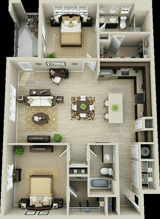 Apartment layout Architecture Pinterest Maison 3d, Plans de - Plan De Maison En 3d
