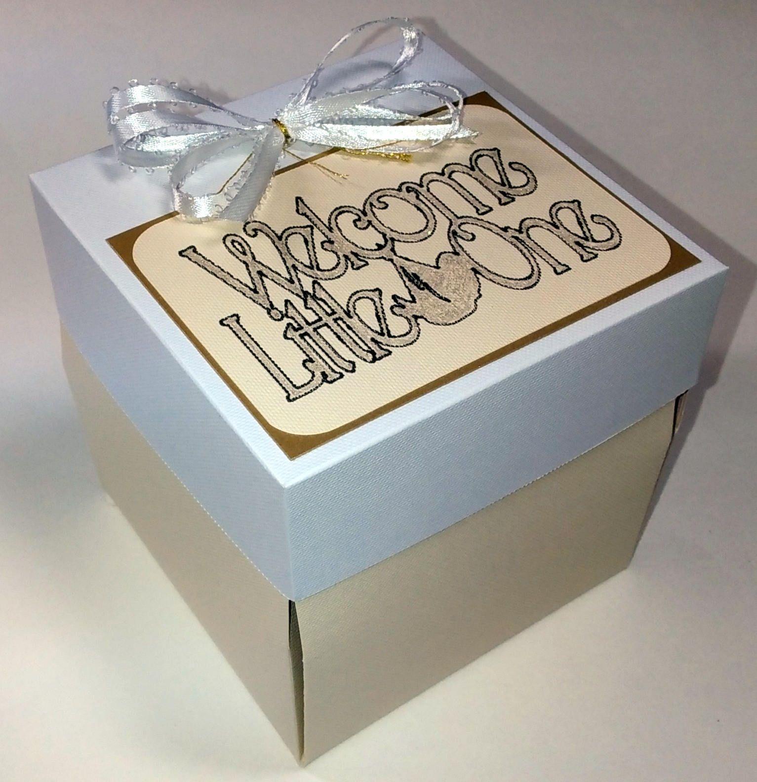 Gender surprise explosion box baby shower exploding box