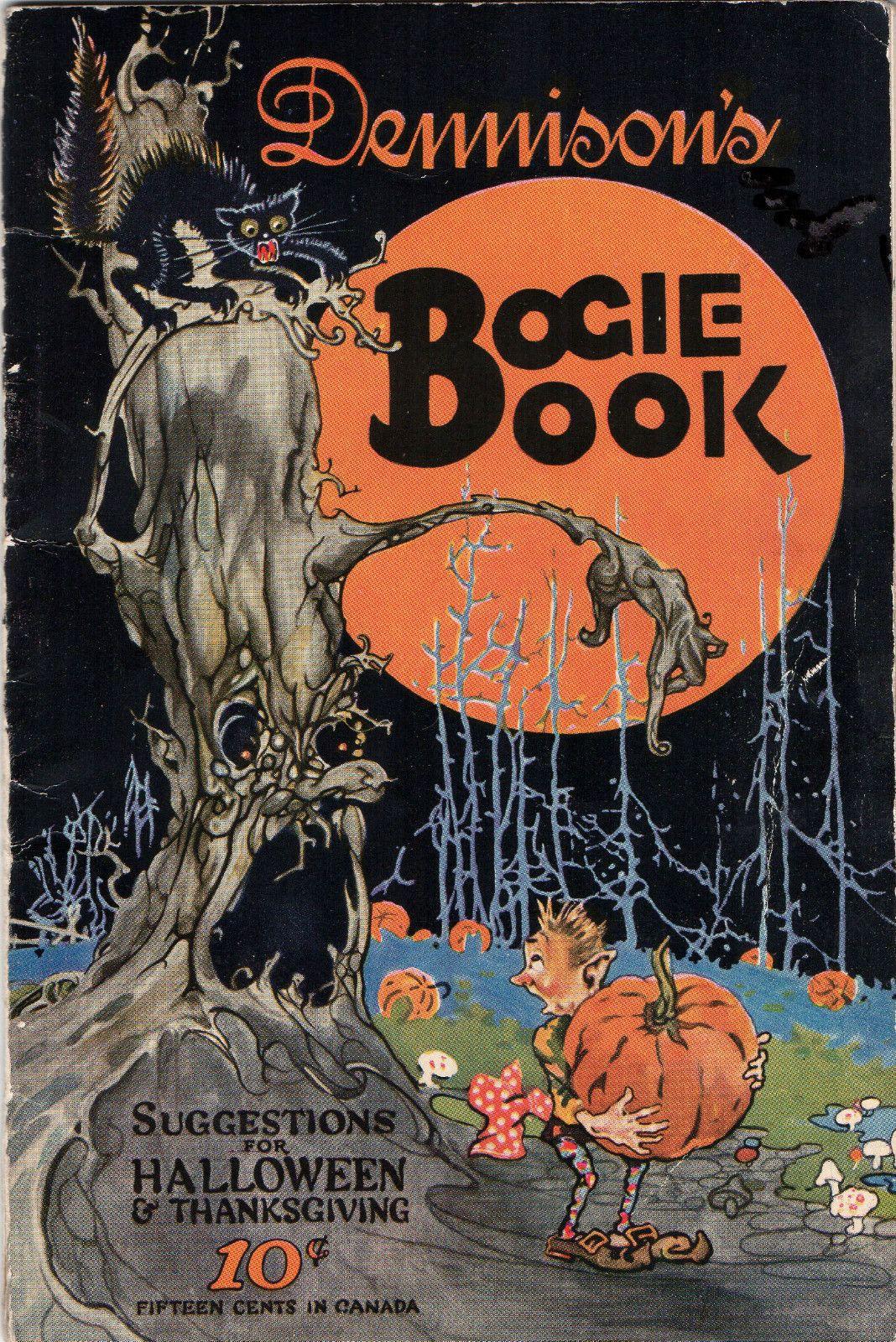 Vintage Halloween 1924 BOGIE BOOK Halloween prints