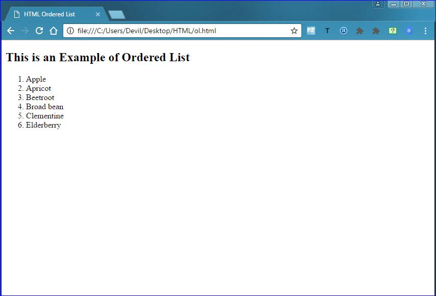 ordered-list HTML Lists Tutorial - Ordered List, Unordered