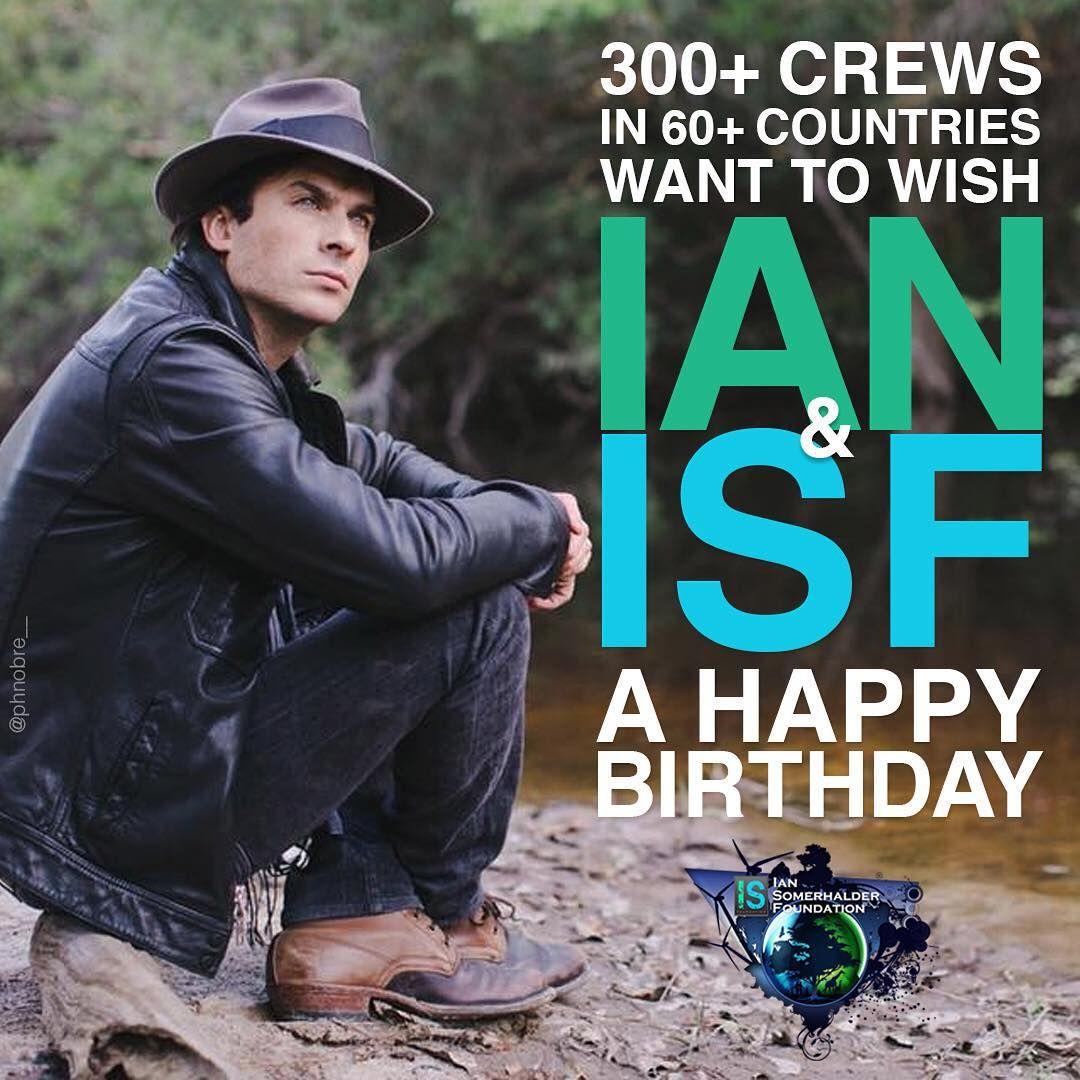 Ian Somerhalder 08/12/15 Happy birthday Ian