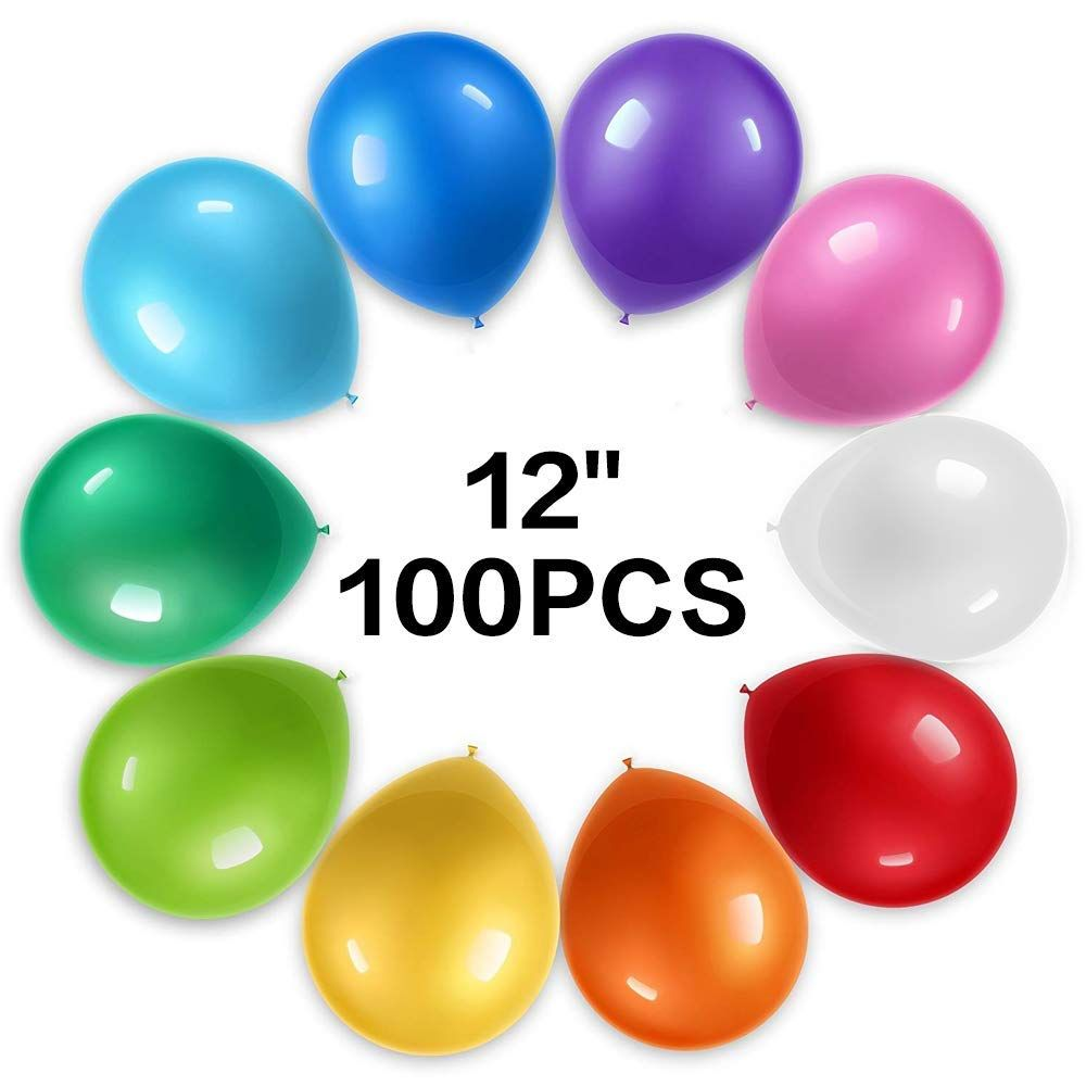 Amazon 12 Inch 100Pcs Latex Balloon Birthday Party Decoration Supplies Just 649 W Code Reg 1299 As Of 10 23 2018 1155 AM CDT