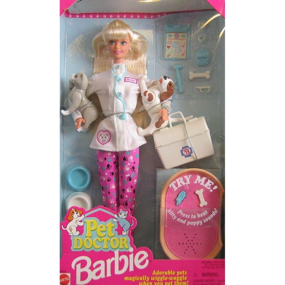 2001 Barbie Pet Doctor Playset + Pet Doctor + Cats Dogs
