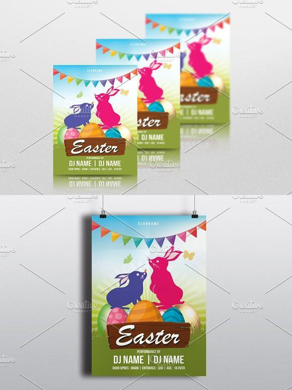 Easter Invitation FlyerV  Easter Invitations Event Flyers And
