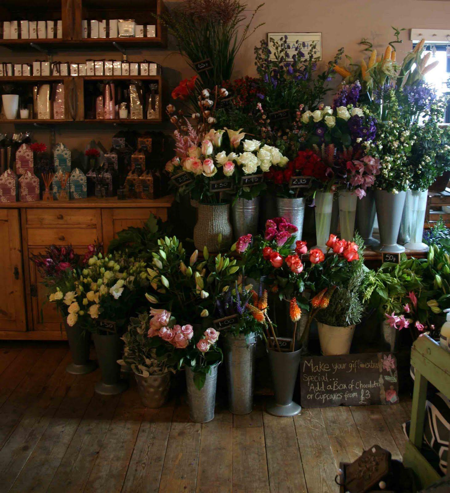 Talk, Talk, Talking in Tynemouth Flower shop interiors