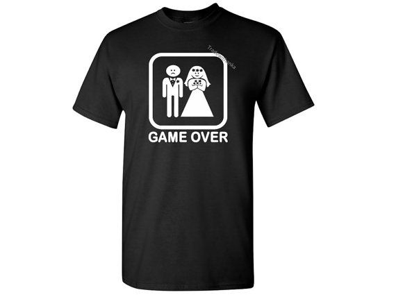 Game Over T-shirt. Game over shirt. Wedding Gift. Humor Tshirt.Wedding Shirt. Bride and Groom shirts.Marriage Gift .Husband and wife shirts