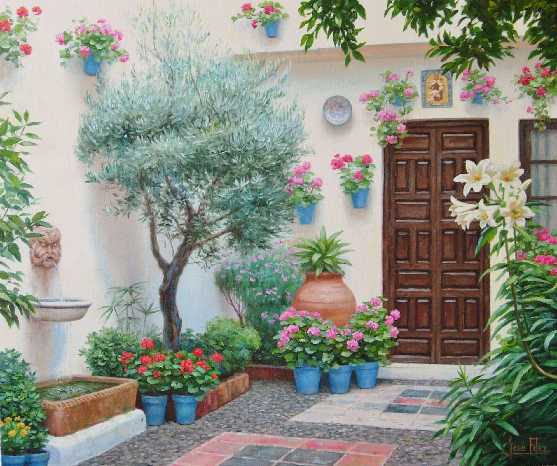 Pin de jes s fern ndez en patios andaluces pinterest - Patios interiores andaluces ...