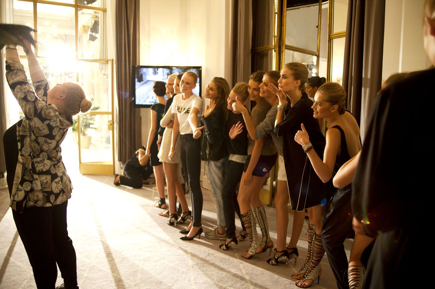 By Malene Birger Spring/Summer 2014 Collection.  Backstage at Hotel d'angleterre.  © Luka Rone