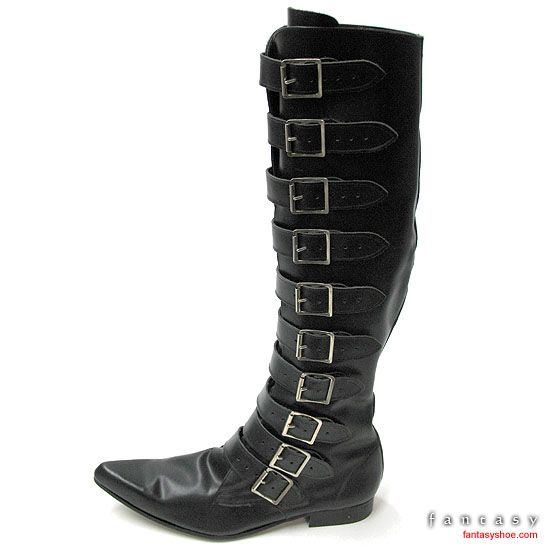 a5a8eff39a9 Mens Winklepicker Buckle Gothic Boots (these are glorious) I need these in  my size