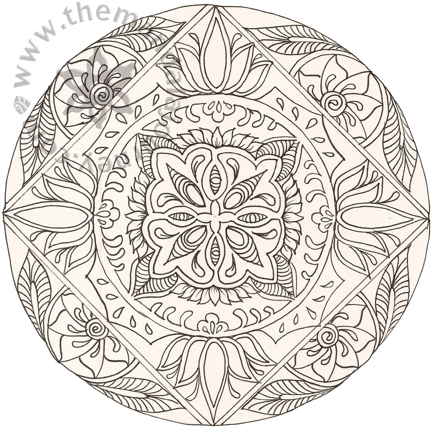 Lotus designs coloring book - Printable Art Work Art Line Mandalas And Tagged Birth Art Childbirth Coloring